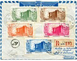 Série 155 à 159 Sur Env Recom. De DAKAR Du 14/02/1940 Arrivée ARC ET  SENANS 20/02/1940 Paypal Not Accept - Storia Postale