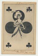 Dame De Trefle - Femme - Cartes à Jouer