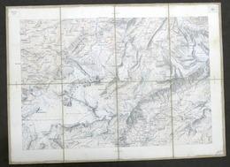 Carta Geografica Svizzera Zona Wildstrubel / Leukebard - Fine '800 - Ed. Artaria - Other Collections