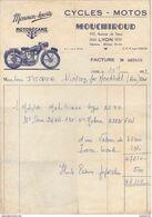 69 LYON FACTURE 1959  Cycles Motos  Moto Motobécane  Monmon Sports MOUCHIROUD Avenue De SAXE   Z22 - 1950 - ...
