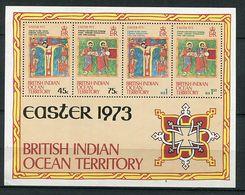 Ocean Indien Britannique ** Bloc N° 1 - Pâques. - Easter