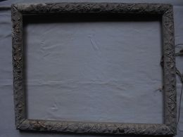 Ancien - Cadre Bois Encadrement Peinture (à Restaurer) - Autres