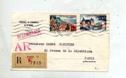 Devant De Lettre  Recommandée Flamme Muette Paris 32 Sur Touquet Blois - Marcophilie (Lettres)