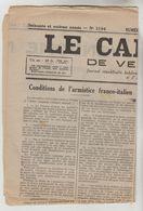 """JOURNAL HEBDOMADAIRE 4 PAGES """"LE CARILLON DE VENDOME"""" N°3194 DU 10/07/1940 (Ce Journal N'est Pas Un Fac-similé) - Newspapers"""