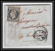 0146 Charente-Maritime Saint-Martin-de-Ré N° 14 Tb Napoleon PC 3196 LAC Lettre Cover France - 1849-1876: Periodo Clásico