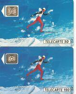 Télécartes Ski De Fond  F205 Et F206 1991 - France