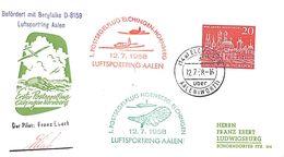Luftsportring Aalen 1958 Elchingen Hornberg (fixed Price) - Airplanes