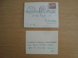 ENVELOPPE + CARTE DE VOEUX LE GENERAL A. BOUCHARDON - Documenten