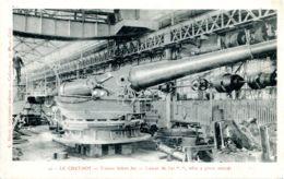 N°2462 R -cpa Le Creuzot -canon De 320 Mm Affût à Pivot Central- - Equipment
