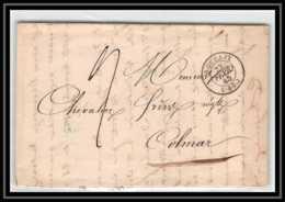 1652 Nord Marque Postale Roubaix Pour Colmar 23/2/1845 LAC Lettre Cover France - Storia Postale