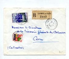 Lettre  Recommandée La Haye Du Puits Sur Reunion - Poststempel (Briefe)