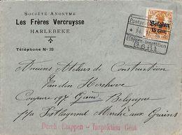 SA Les Frères Vercruysse Harlebeke - Cachets Marcophilie Durch Etappen Inspektion Gent - WW I