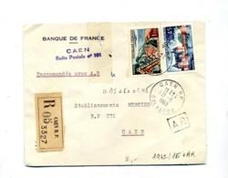Lettre  Recommandée Caen Sur Blois Touquet - Poststempel (Briefe)