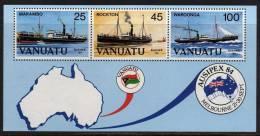 """VANUATU  B.F. N° 6  XX  """"Ausipex 84"""", Exposition Philatélique Internationale à Melbourne, Le Bloc Sans Charnière TB - Vanuatu (1980-...)"""