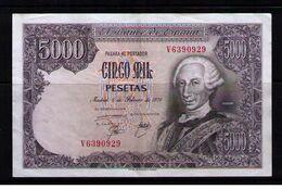 BILLETE DE 5000 PESETAS DE 1976 - EXCELENTE ++ SIN SERIE - [ 4] 1975-… : Juan Carlos I
