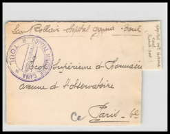 52655 Meurthe-et-Moselle Toul Hopital Militaire Gama Sante Guerre 1914/1918 War Devant De Lettre Front Cover - Guerra Del 1914-18