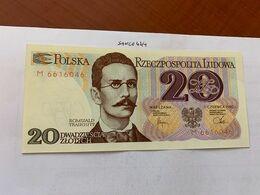 Poland 20 Zlotych Uncirc. Banknote 1982 - Polonia
