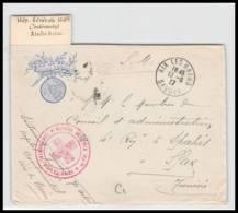 52938 Savoie Aix Les Bains 1917 Hopital Benevole 164 Bis Sante Guerre 1914/1918 War Devant De Lettre Front Cover - Marcophilie (Lettres)