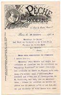 Journal LA PECHE MODERNE : Correspondance De 1904 Sur Le Projet De PERMIS De PECHE (signé WYERS Frères, Directeurs). - Non Classés