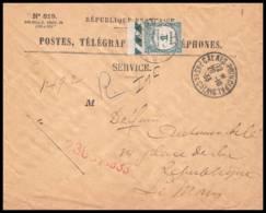 53304 Calais Principal 1933 Taxe N°60 1f Vert Bord De Feuille Le Mans Sarthe Lettre Recommandé Cover France - Lettres Taxées