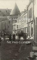 HENNEBONT Vers 1905 Scène Urbaine Carriole Cheval Morbihan Bretagne - Lieux