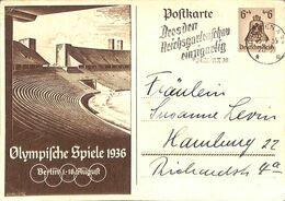 Postkarte Olympiche Spiele Berlin  1936 Deutsche Reichspost (fixed Price) - Unclassified