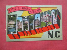 Greetings  Montreat  North Carolina     Ref 4259 - Etats-Unis