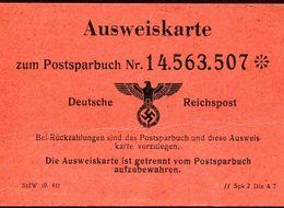 56446 Germany Reich,  Ausweiskarte  Zum Postsparbuch.  Deutsche Reichspost  (size Cm 10,5 X 7) - Deutschland