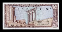Libano Lebanon 1 Livre 1980 Pick 61c SC UNC - Liban