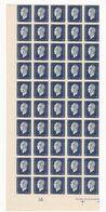 France - Yvert N° 684,686,688 Et 692/695 ** En Blocs De 100 - Cote 120 € - Feuilles Complètes