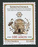 103 COLOMBIE 2020 - 100 Ans Serenisima (Ruche) Masonic Franc Maconnerie Freemasonery Loge - Neuf ** (MNH) Sans Charniere - Freemasonry