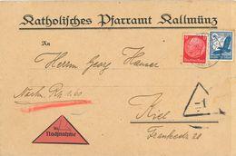 Katholisches Pfarramt Kallmünz Nach Kiel Nachnahme - Covers & Documents