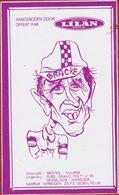 Sticker Autocollant Ferdinand Bracke Biscuiterie Illustrator Rik Delnest Nesten Cartoon Wielrenner Coureur Cycliste - Aufkleber