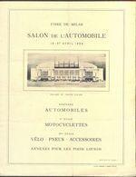 ITALIA - SALON De ATOMOBILE & MOTOCYCLETTES, VELO, PNEUS - MILANO - 1924 - Voitures