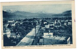 38GRENOBLE- LA BAJATIERE VUE GENERALE- LA ROUTE D'EYBENS A GAUCHE DE TAILLEFER-ANIMEE - Grenoble
