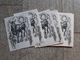 Lot 10 Ex Libris Neufs Taureau Gravure De Decaris Ex Libris Signe Du Zodiaque - Bookplates