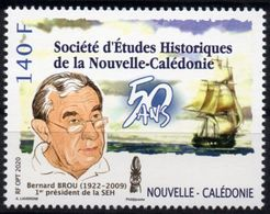 Nouvelle-Calédonie 2020 - Société D'études Historiques, Bernard Brou - 1 Val Neuf // Mnh - Nouvelle-Calédonie