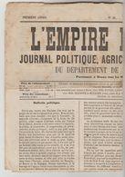 """JOURNAL QUOTIDIEN 4 PAGES """"L'EMPIRE LIBERAL"""" N°42 DU 18/02/1868 (Ce Journal N'est Pas Un Fac-similé) - 1850 - 1899"""