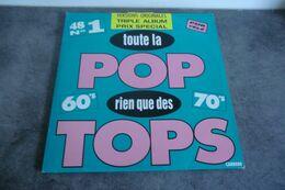 Disque - Toute La Pop Rien Que Des Tops 60's 70's - Carrere - 66890 - 3 Disques - - Rock