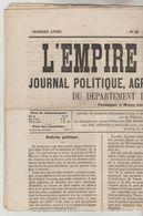 """JOURNAL QUOTIDIEN 4 PAGES """"L'EMPIRE LIBERAL"""" N°48 DU 11/03/1868 (Ce Journal N'est Pas Un Fac-similé) - 1850 - 1899"""