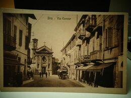 Cartolina  Di Bra Via Cavour Formato Piccolo Prov Di Cuneo - Cuneo