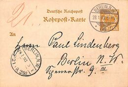 Deutsche Reichspost Berlin 1893 Karte (fixed Price) - Germany