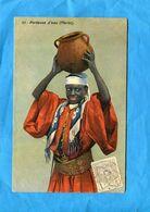 MAROC -1913-porteuse D'eau Gros Plan  *-Affranchissement Poste Chérifienne 1913  -pour Françe - Locals & Carriers