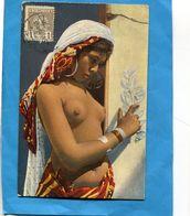MAROC -1913-jeune Fille Seins Nus -SUPERBE Gros Plan  *-Affranchissement Poste Chérifienne 1913  -pour Françe - Locals & Carriers