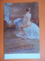 CPA Inédite Non écrite - BATTAGLIA Nu De Jeune Fille - Paintings