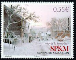 St Pierre Et Miquelon 2020 - Scène D'hiver, Neige, Après La Tempête - 1 Val Neuf // Mnh - Neufs