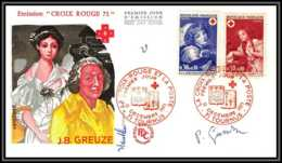 153 Lettre France Fdc (premier Jour) N°1700 / 1701 Signé (signed Autograph) Croix Rouge (red Cross) - Red Cross
