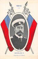 Nicolas II Empereur De Russie  - Guerre 1914-18 - Ed Suisse - Drapeau - Etendard - Personnages
