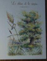 Petit Calendrier De Poche  2008 Illustration Fable De La Fontaine Le Chêne Et Le Roseau - 4 Volets - Calendari