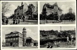 Cp Dallgow Döberitz Im Havelland, Bahnhofstraße, Am Wasserturm, Soldatenheim, Barackenlager - Châteaux D'eau & éoliennes